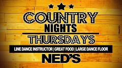 Country is Back, Thursdays @ 8 PM